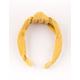 FULL TILT Corduroy Top Knot Mustard Headband