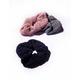 FULL TILT 3 Pack Open Knit Lurex Scrunchies