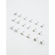 FULL TILT 9 Pairs Leaf Arrow & Marble Earrings