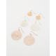 FULL TILT 3 Round Filigree Earrings