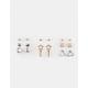 FULL TILT  9 Piece Star, Bar & Heart Earrings