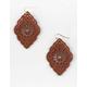 FULL TILT Leather Cutout Earrings
