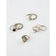FULL TILT 9 Piece Stone & Opal Circle Ring Set