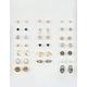 FULL TILT 20 Pairs Pearl, Moon and Bird Stud Earrings