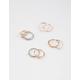 FULL TILT 9 Piece Cross Infinity & Moonstone Rings
