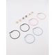 FULL TILT 6 Pairs Sun Moon Stud & Hoop Earrings