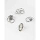 FULL TILT 9 Piece White Stone Ring Set