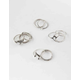 FULL TILT 10 Piece Marble Opal & Etched Ring Set