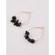 FULL TILT Chip Black Hoop Earrings