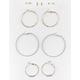 FULL TILT 6 Pairs Stud and Hoop Earrings