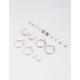 FULL TILT 9 Pairs Star Moon & Hoop Earrings