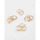 FULL TILT 12 Piece Moon and Rhinestone Ring Set