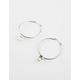 FULL TILT Crystal Hoop Earrings