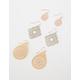 FULL TILT 3 Pair Teardrop Filigree Earrings