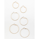 FULL TILT 3 Piece Simple and Etched Hoop Set