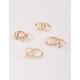 FULL TILT 11 Piece Opal Leaf & Rhinestone Rings