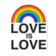 Love is Love Rainbow Sticker