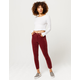 RSQ High Rise Ankle Corduroy Wine Womens Skinny Jeans