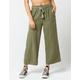 SKY AND SPARROW Linen Crop Womens Wide Leg Pants