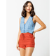 SKY AND SPARROW Linen Utility Womens Shorts