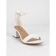 CITY CLASSIFIED Weekend White Womens Heeled Sandals