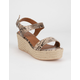 CITY CLASSIFIED Luthor Python Womens Espadrille Sandals