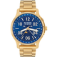 NIXON Ascender All Gold & Blue Sunray Watch