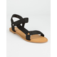 BAMBOO Tourist Ankle Strap Black Womens Velcro Sandals