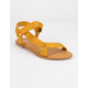 BAMBOO Tourist Ankle Strap Yellow Womens Velcro Sandals