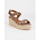 CITY CLASSIFIED Luthor Leopard Womens Espadrille Sandals