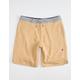 VISSLA Cabin Fever Mustard Mens Sweat Shorts