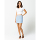 SKY AND SPARROW Tile Print Mini Skirt