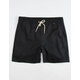 HURLEY One And Only Stretch Black Mens Volley Shorts