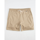 HURLEY One And Only Stretch Khaki Mens Volley Shorts