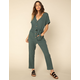 WEST OF MELROSE Armed With Charm Green Womens Jumpsuit