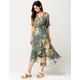 CODE X MODE Floral Ruffle Wrap Dress