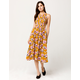 MELLO DAY Smocked Floral Midi Dress