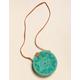 WEST OF MELROSE Aguna Turquoise Round Bag