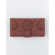 VIOLET RAY Perforated Rust Wallet