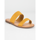 SODA Double Strap Mustard Womens Sandals