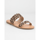 SODA Double Strap Cheetah Womens Sandals