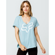 FOX Responded Light Blue Womens Tee