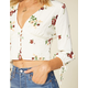 WEST OF MELROSE Short Bud Sweet Cream Womens Top
