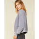WEST OF MELROSE Brush It Off-the-Shoulder Gray Womens Thermal
