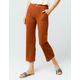 SKY AND SPARROW Pork Chop Pocket Womens Crop Flare Pants