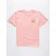 RVCA Rose State Coral Boys T-Shirt