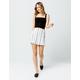 IVY & MAIN Stripe Side Button Mini Skirt