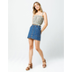 SKY AND SPARROW Button Front Denim Skirt