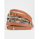 FULL TILT 3 Pack Snakeskin & Whip Stitch Belts