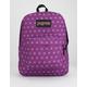 JANSPORT Black Label SuperBreak Purple Plum Polka Dot Backpack